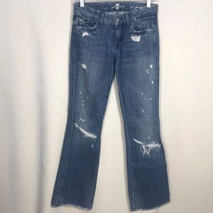 7 for all Mankind Boot-Cut Distressed Jean